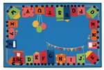Alphabet Fun Train Value Rug - Rectangle - 8' x 12' - CFK9680 - Carpets for Kids
