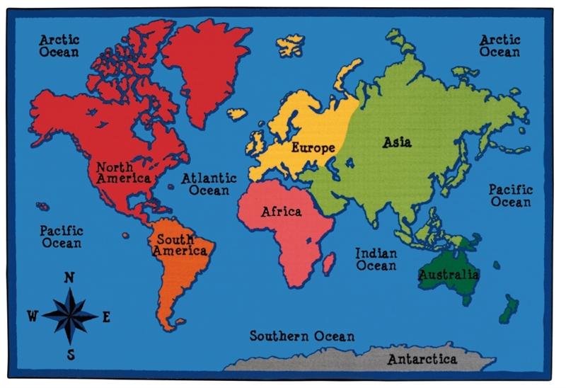 World Map Value Rug Rectangle 8 X 12 Cfk9686 Carpets