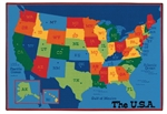 USA Map Value Rug - Rectangle - 8' x 12' - CFK9695 - Carpets for Kids