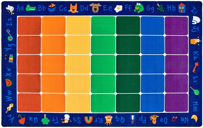 Fun with phonics rug colorful reading rug for kids for Classroom rug