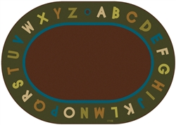 Alphabet Circletime Rug Factory Second - Nature - Oval - 6' x 9' - CFKFS10706 - Carpets for Kids