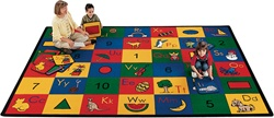 "Blocks of Fun Rug Factory Second - Rectangle - 5'10"" x 8'4"" - CFK1300 - Carpets for Kids"