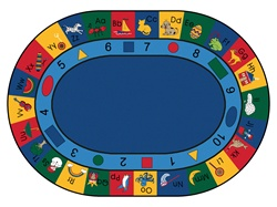 "Blocks of Fun Rug Factory Second - Oval - 8'3"" x 11'8"" - CFKFS1308 - Carpets for Kids"