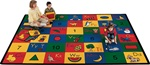 "Blocks of Fun Rug Factory Second - Rectangle - 8'4"" x 11'8"" - CFKFS1312 - Carpets for Kids"