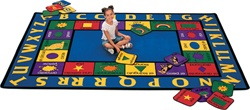 "Bilingual Rug Factory Second - Rectangle - 5'10"" x 8'4"" - CFKFS1600 - Carpets for Kids"