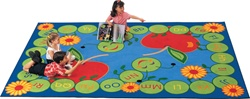 "ABC Caterpillar Rug Factory Second - Rectangle - 4'5"" x 5'10"" - CFKFS2201 - Carpets for Kids"