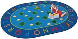 "Hip Hop to the Top Rug Factory Second - Oval - 6'9"" x 9'5"" - CFKFS2495 - Carpets for Kids"