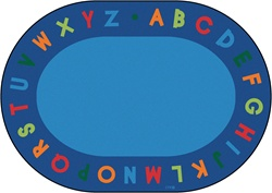 "Alphabet Circletime Rug Factory Second - Oval - 8'3"" x 11'8"" - CFKFS2508 - Carpets for Kids"