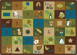 "Learning Blocks Rug Factory Second - Nature - Rectangle - 5'10"" x 8'4"" - CFKFS37700 - Carpets for Kids"
