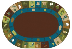 "Learning Blocks Rug Factory Second - Nature - Oval - 8'3"" x 11'8"" - CFKFS37708 - Carpets for Kids"