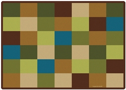 "Nature Blocks Seating Rug Factory Second - Rectangle - 8'4"" x 11'8"" - CFKFS41712 - Carpets for Kids"