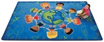 Give the Planet a Hug Rug Factory Second - Rectangle - 8' x 12' - CFKFS4417 - Carpets for Kids