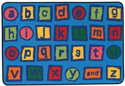 Alphabet Blocks Rug Factory Second- Rectangle - 4' x 6' - CFKFS4809 - Carpets for Kids