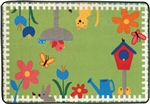Garden Time Rug Factory Second - Rectangle - 4' x 6' - CFKFS4867 - Carpets for Kids