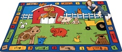 "Alphabet Farm Rug Factory Second - Rectangle - 4'5"" x 5'10"" - CFKFS5201 - Carpets for Kids"