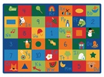 "Learning Blocks Rug Factory Second - Rectangle - 8'4"" x 11'8"" - CFKFS7012 - Carpets for Kids"