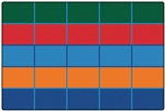 Color Blocks Value Seating Rug Factory Second - Rectangle - 6' x 9' - CFKFS7291 - Carpets for Kids