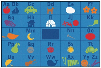 Alphabet Value Seating Rug Factory Second - Rectangle - 6' x 9' - CFKFS7293 - Carpets for Kids
