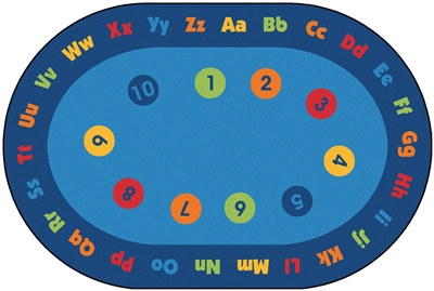 Circletime Early Learning Rug Factory Second - Oval - 6' x 9' - CFKFS7298 - Carpets for Kids