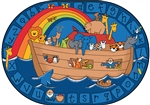 Alphabet Noah Rug Factory Second - Oval - 6' x 9' - CFKFS74005 - Carpets for Kids