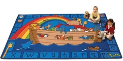 Alphabet Noah Rug Factory Second - Rectangle - 8' x 12' - CFKFS74017 - Carpets for Kids