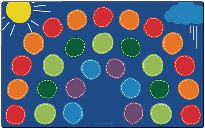 "Rainbow Seating Rug Factory Second - Rectangle - 7'6"" x 12' - CFKFS8412 - Carpets for Kids"