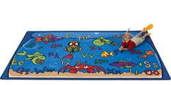 "Alphabet Aquarium Rug Factory Second - Rectangle - 4'5"" x 5'10"" - CFKFS8901 - Carpets for Kids"