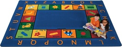 "Bilingual Circletime Rug Factory Second - Rectangle - 5'10"" x 8'4"" - CFKFS9500 - Carpets for Kids"