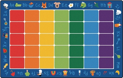 "Fun with Phonics Rug Factory Second - Rectangle - 7'6"" x 12' - CFKFS9612 - Carpets for Kids"