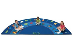 "Fun with Phonics Rug Factory Second - Semi-Circle - 6'8"" x 13'4"" - CFKFS9634 - Carpets for Kids"