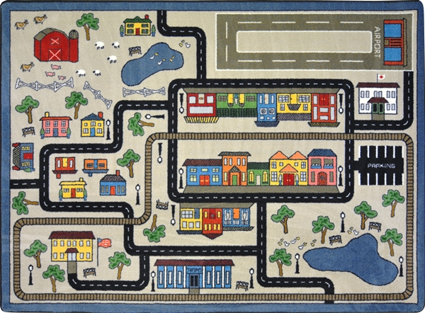 Kid S Tiny Town Rug Town Play Rug Rtr Kids Rugs