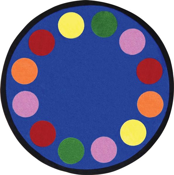 Lots Of Dots Classroom Rug Border