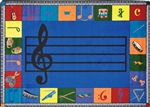"Noteworthy Rug Preschool - Rectangle - 7'8"" x 10'9"" - JC1462D02 - Joy Carpets"
