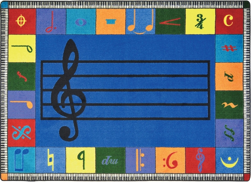 Noteworthy Music Rug Music Note Classroom Rug