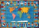 "Hands Around the World Rug - Rectangle - 7'8"" x 10'9"" - JC1488D - Joy Carpets"