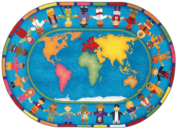 Hands Around The World Kids Rug
