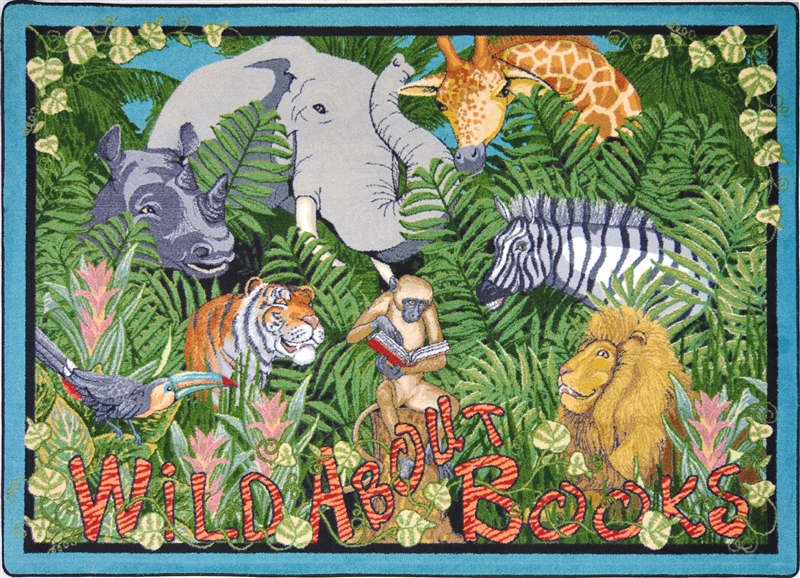 Wild About Books Rug Jungle Animal Rug Rtr Kids Rugs