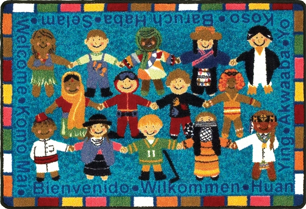 Welcome In Many Languages Rug Rectangle 32 Quot X 46