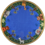 "Jungle Friends Rug - Round - 7'7"" - JC1579E - Joy Carpets"