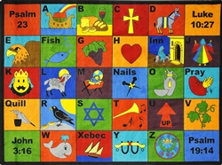 Bible Phonics Rug - JC1601XX - Joy Carpets