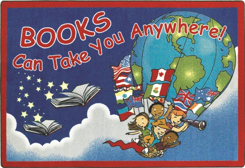 Books Can Take You Anywhere Rug JC1605XX Joy Carpets