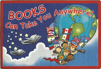 Books Can Take You Anywhere Rug - JC1605XX - Joy Carpets