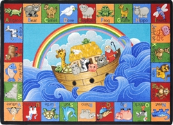Noah's Alphabet Animals Children's Rug - JC1610XX - Joy Carpets