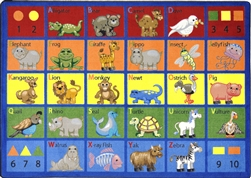 Animal Phonics Rug - JC1623XX - Joy Carpets