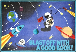 Blast Off With A Good Book Rug - JC1673XX - Joy Carpets