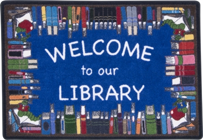Books Galore Welcome to Our Library Mat - RTR Kids Rugs