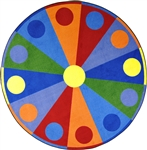 "Color Wheel Rug - Round - 7'7"" - JC1676E - Joy Carpets"