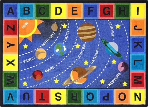 Space Alphabet Rug Jc1677xx Joy Carpets