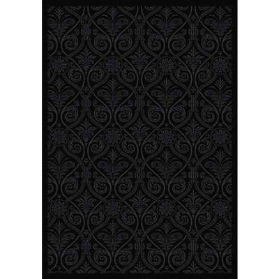 "Damascus Rug - Black - Rectangle - 3'10"" x 5'4"" - JCX1755B01 - Joy Carpets"