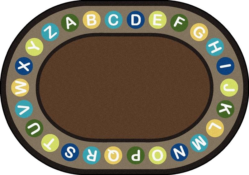 classroom rug clipart. alphabet spots circletime rug - earthtone classroom clipart